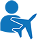 A person with an airplane