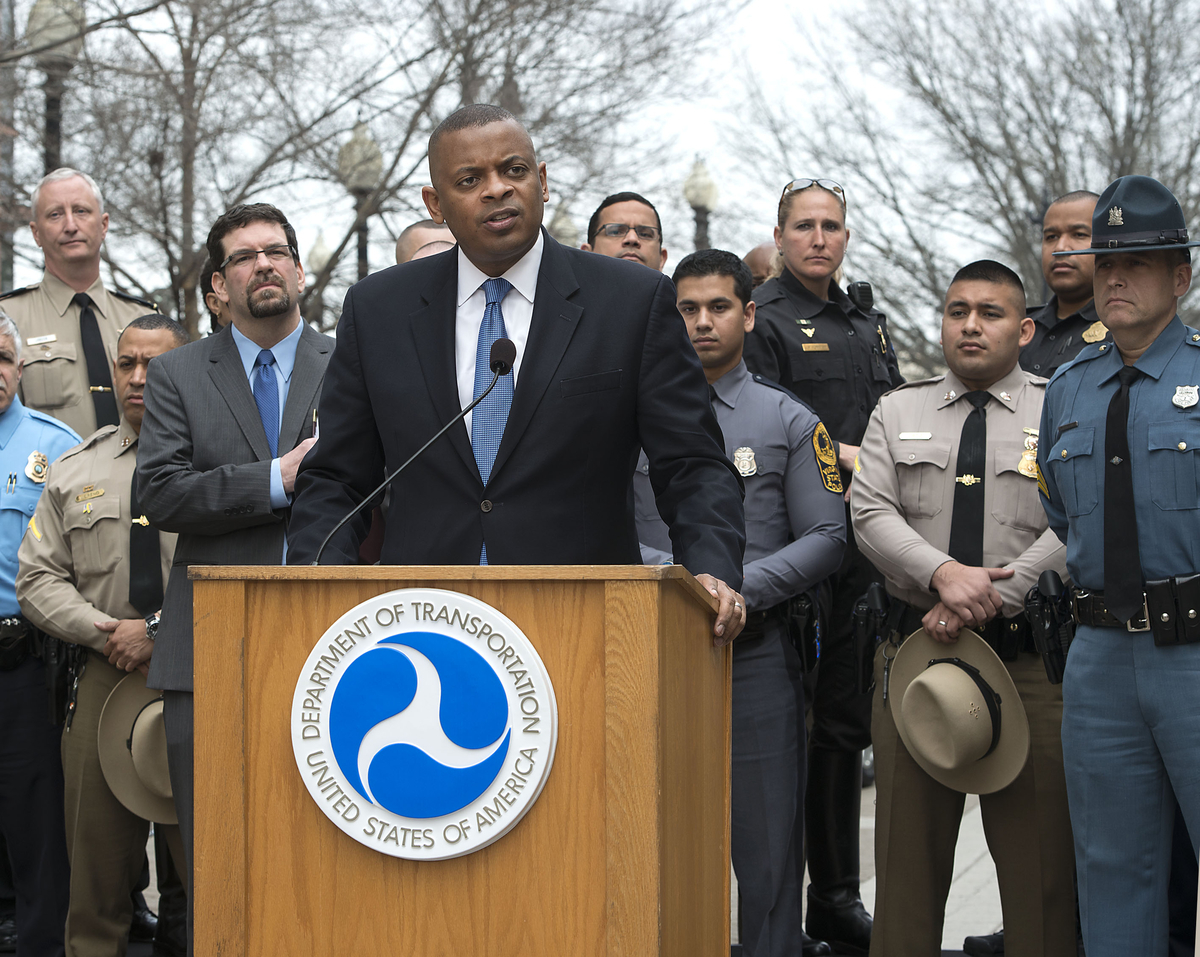 Phot of Secretary Foxx at the Distraction awareness launch