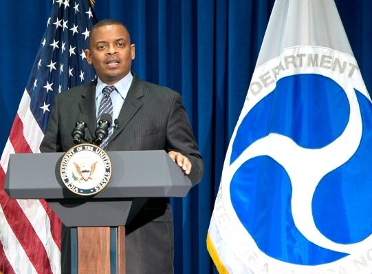 Photo of Secretary Foxx at his ceremonial swearing-in during July 2014