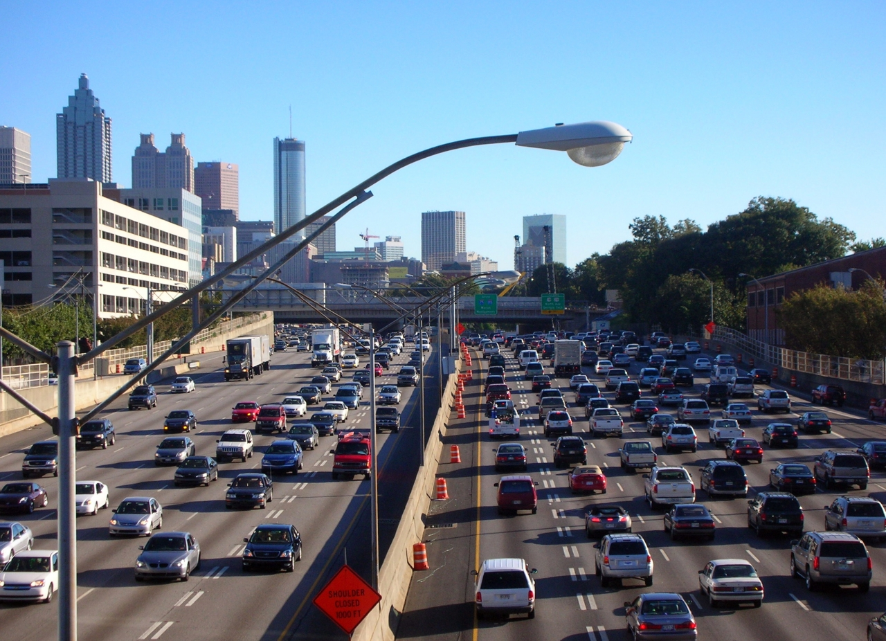 Congested Atlanta Urban Highway