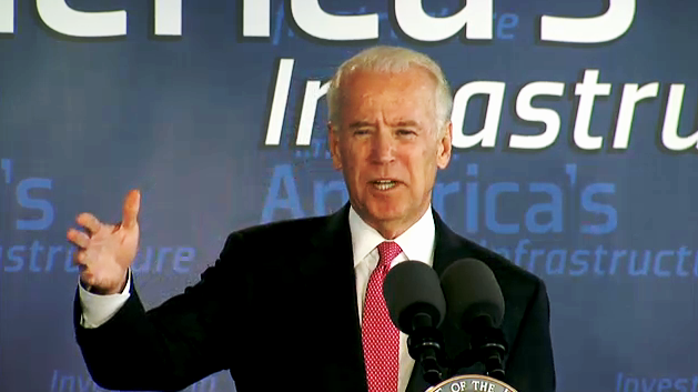 Photo of Vice President Biden speaking in Houston