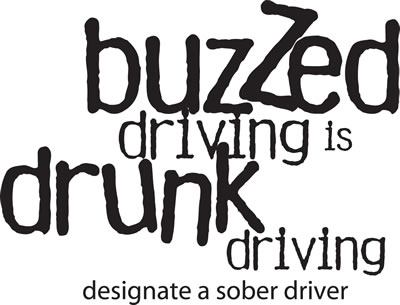 Buzzed driving is drunk driving. Designate a sober driver.