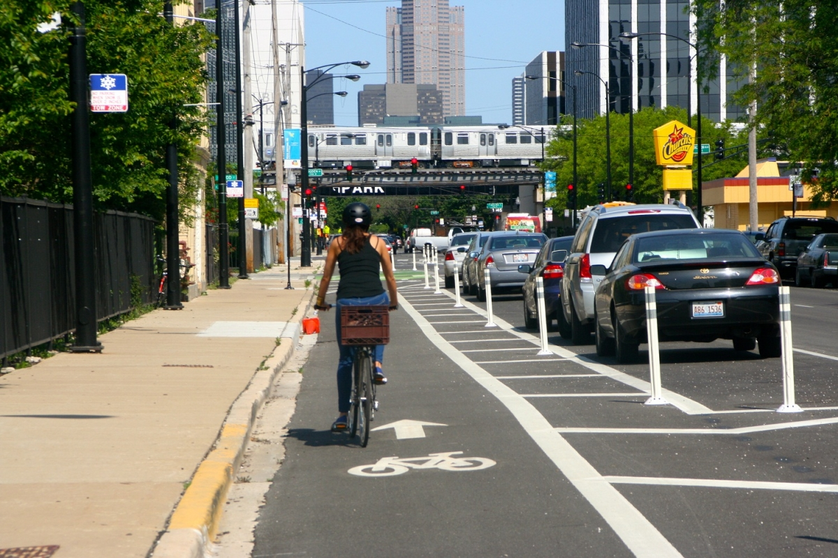Chicago bike lane