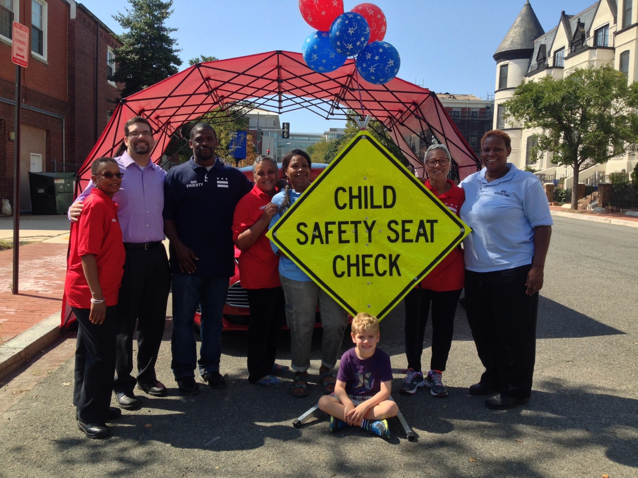 Photo of Child Safety Seat Check crew