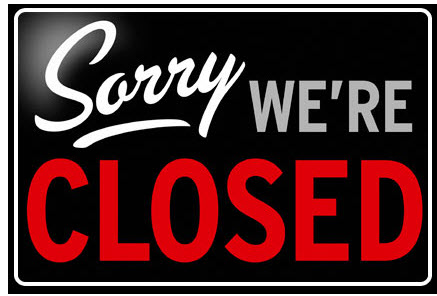 """Closed"" sign"