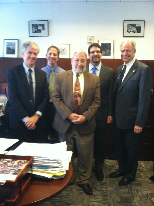 Photo of Richard Compton with NHTSA staff