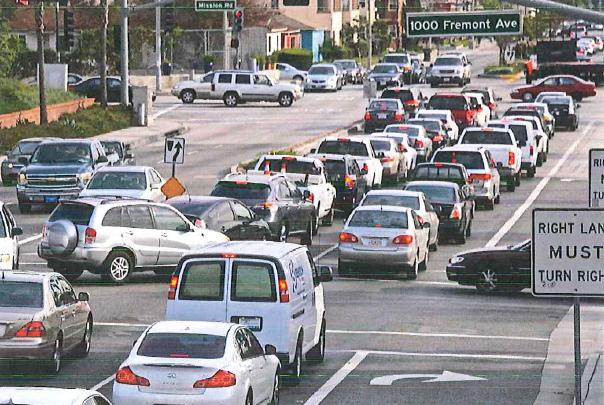 Photo of daily commuters cutting-through Alhambra
