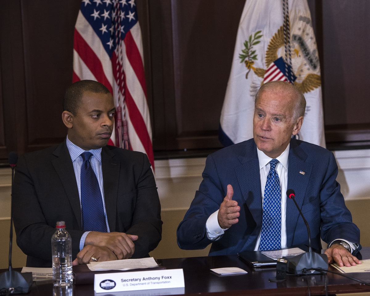 Secretary Foxx and Vice President Biden