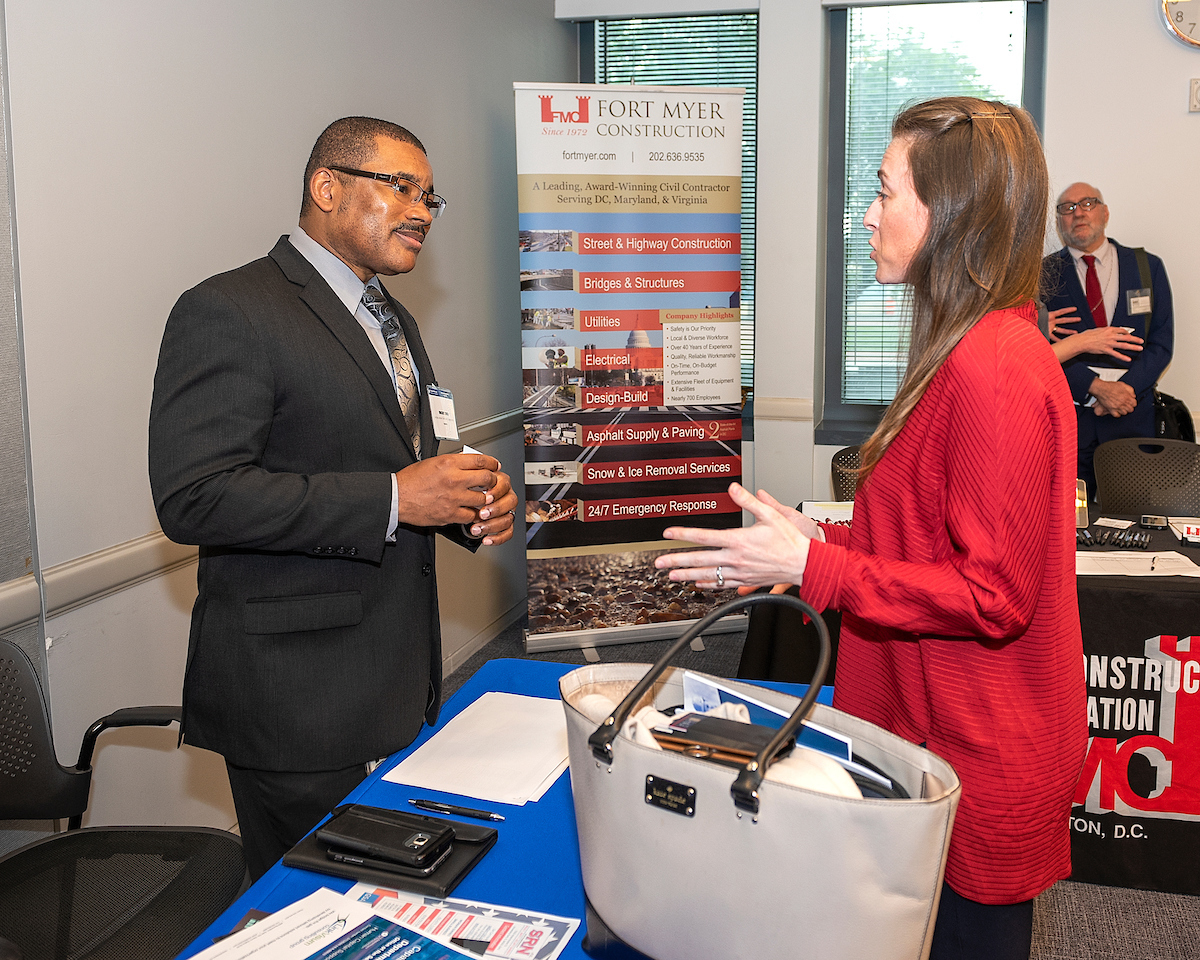 Attendees network during USDOT small business opportunities event