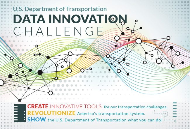 Web banner for the D.O.T. Data Innovation Challenge