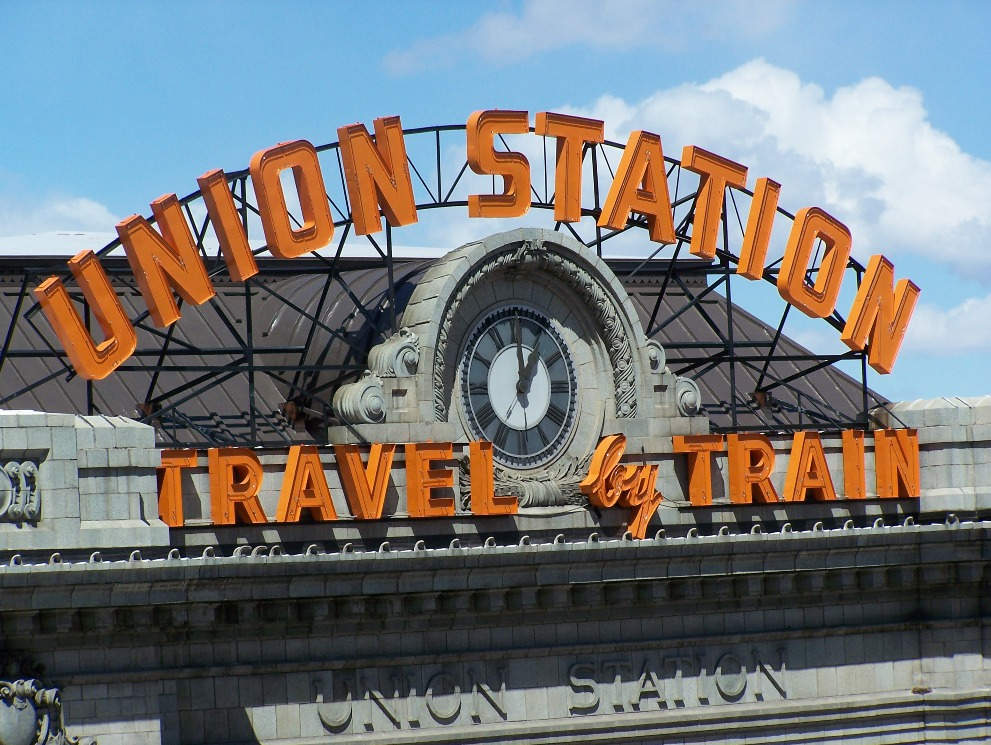 Close-up photo of Denver's Unon Station
