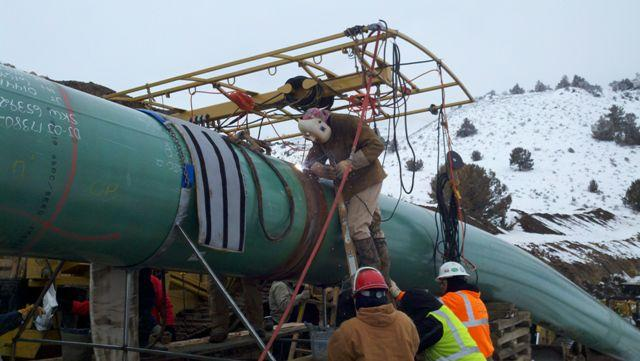 Photo of pipeline inspection and repair