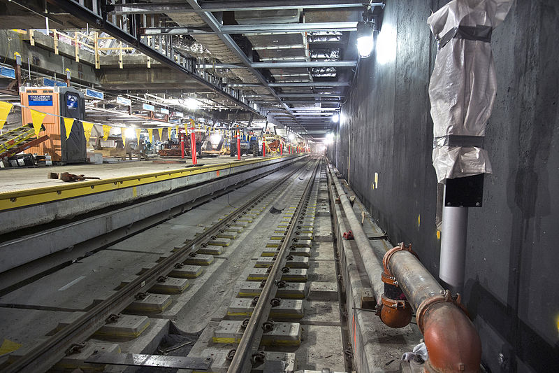 Picture of subway tracks