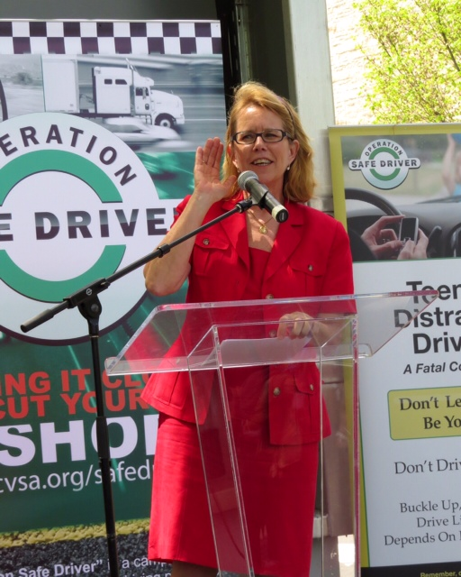 Photo of FMCSA Administrator Anne Ferro at Teens And Trucks event