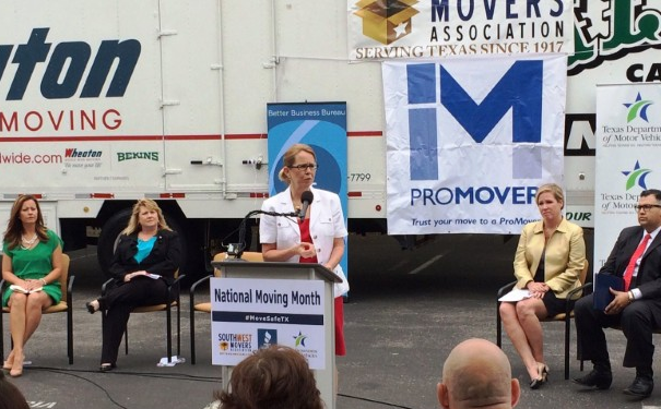 Photo of Anne Ferro at Protect Your Move kick-off