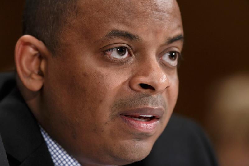 Photo of an intense-looking Secretary Foxx