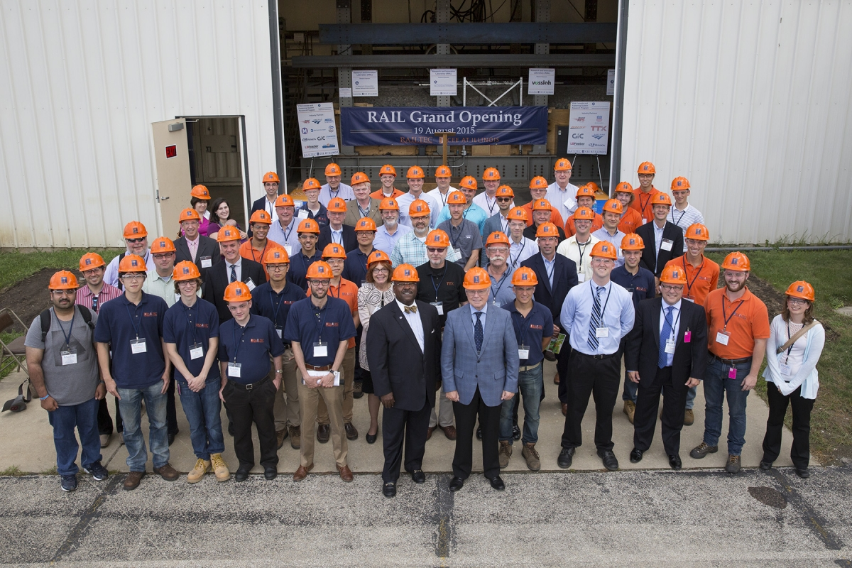 Group photo from RAIL  ribbon cutting