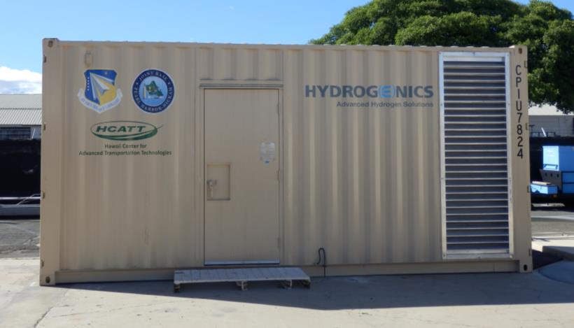 Photo of hydrogen fuel-cell unit in Honolulu