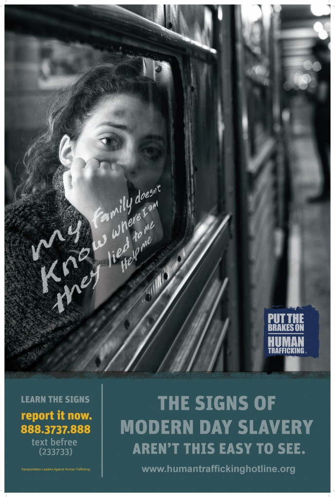 TLAHT Subway Poster 3 - The Signs of Modern Day Slavery Aren't This Easy to See (with texting)