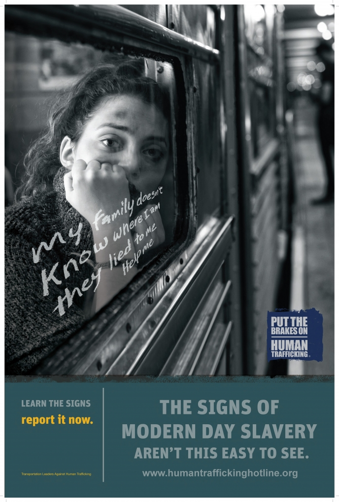 TLAHT Subway Poster 4 - The Signs of Modern Day Slavery Aren't This Easy to See (blank)