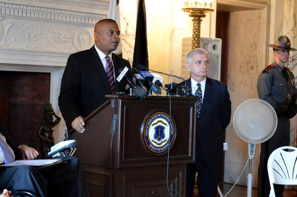 Photo of Secretary Foxx with Rhode Island U.S. Senator Jack Reed