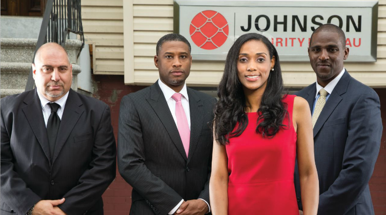 Jessica Johnson, President, Johnson Security Bureau, Inc. (Second to Far Right)