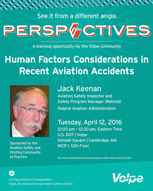 perspectives human factors considerations in recent aviation accidents flyer image