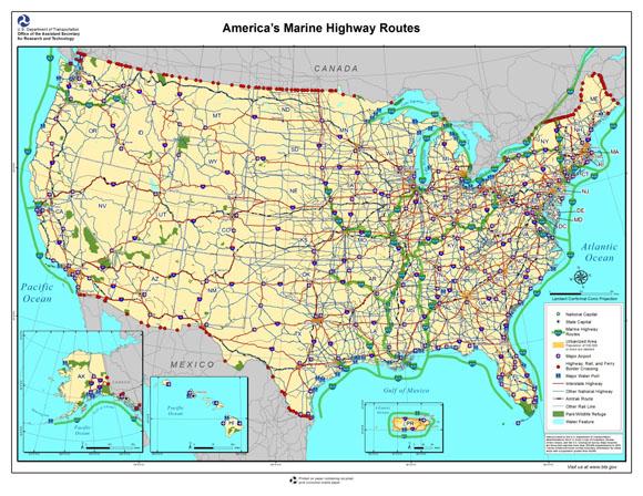 Maritime Sustainability Initiatives US Department Of Transportation - Us navigable waterways map