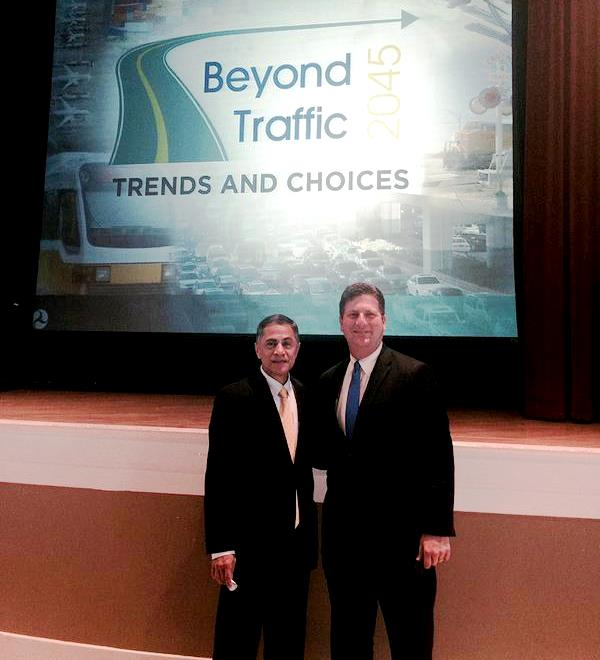 Mayor Stanton (right) with Deputy Transportation Secretary Victor Mendez
