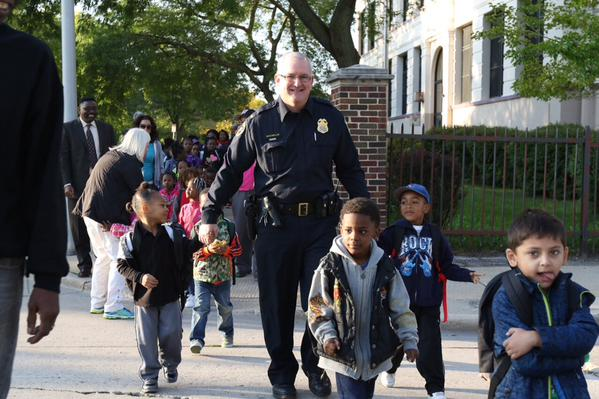 Walk To School Day in Milwaukee