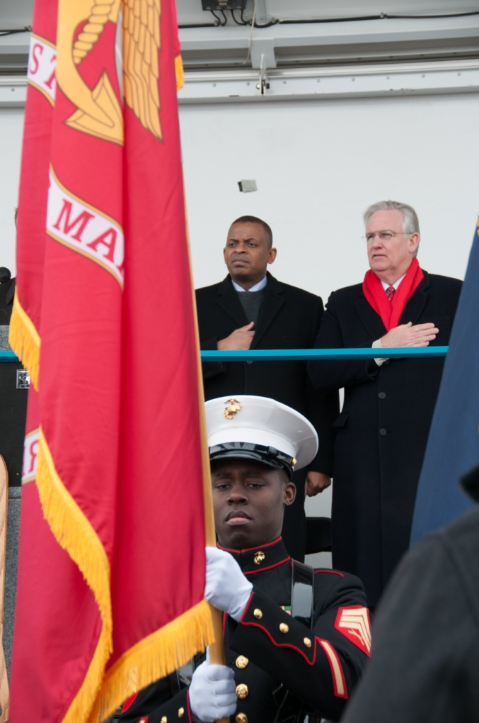 Photo of Secretary Foxx and Missouri Governor Nixon