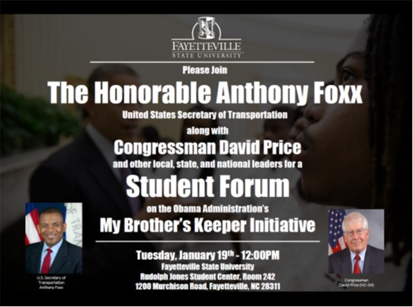 FSU advertisement for Secretary Foxx's town hall