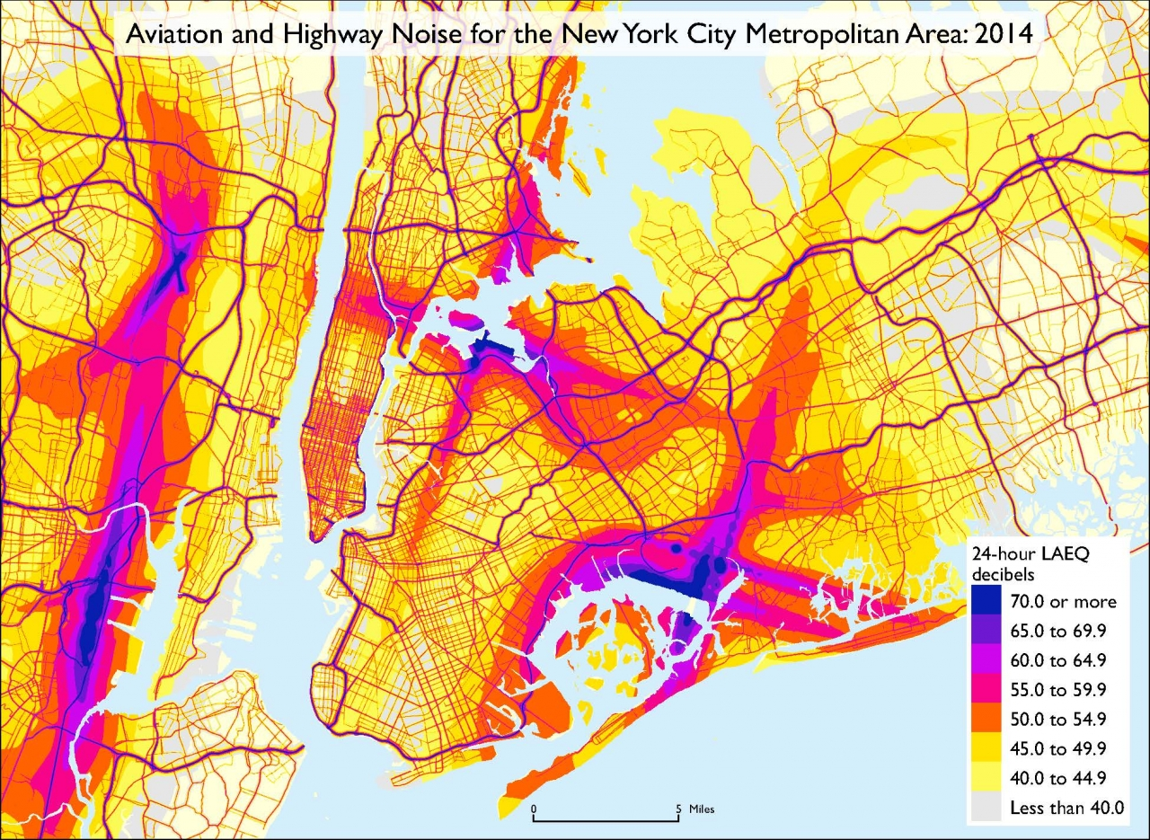 National Transportation Noise Map US Department Of Transportation - Map of us with highways