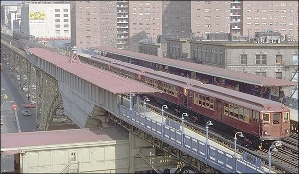 1960s photo of New York City elevated rail transit