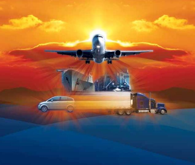 OSDBU Logo featuring plane, trucks and other modes of transportation.