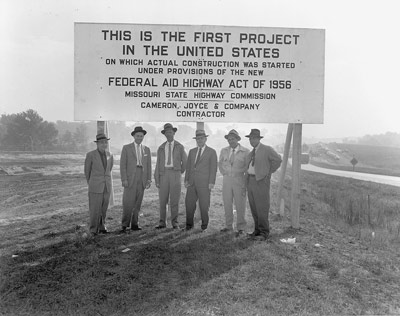 First Highway Project Sign