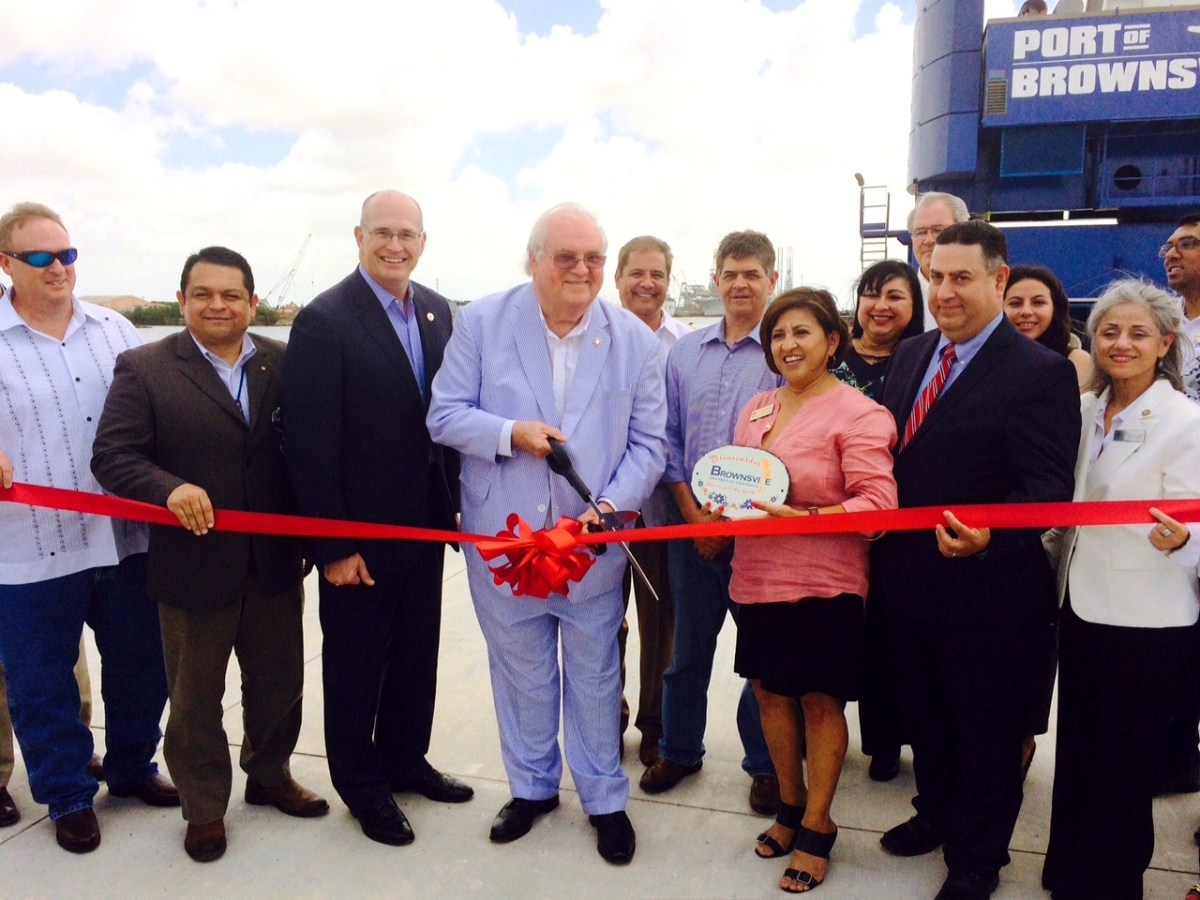 Port of Brownsville ribbon-cutting