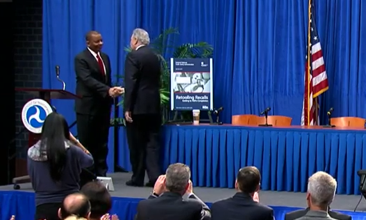 Secretary Foxx and NHTSA Administrator Mark Rosekind at Retooling Recalls workshop