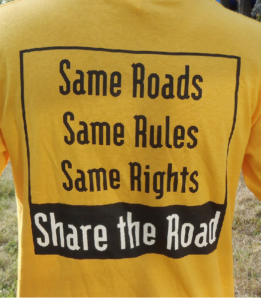 Photo of Share The Road tee-shirt