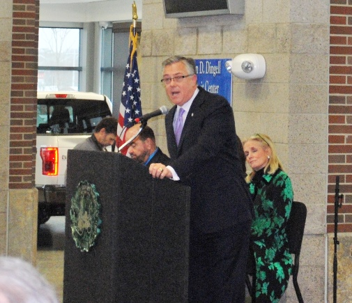 Photo of F.R.A. Administrator Joe Szabo at Dearborn Station