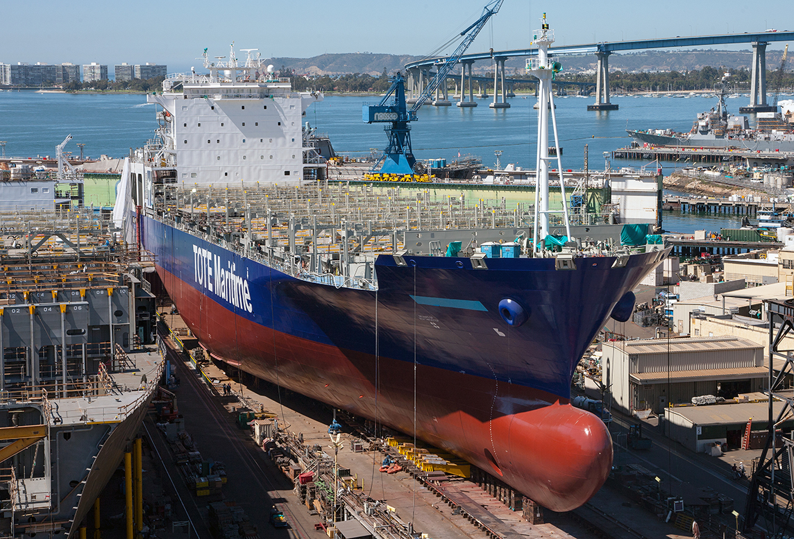 TOTE Maritime LNG-powered vessel under construction