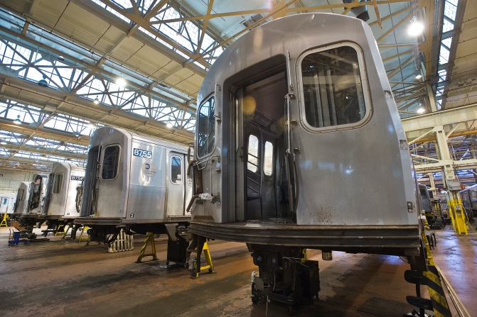 Image of rail car - Courtesy New York MTA