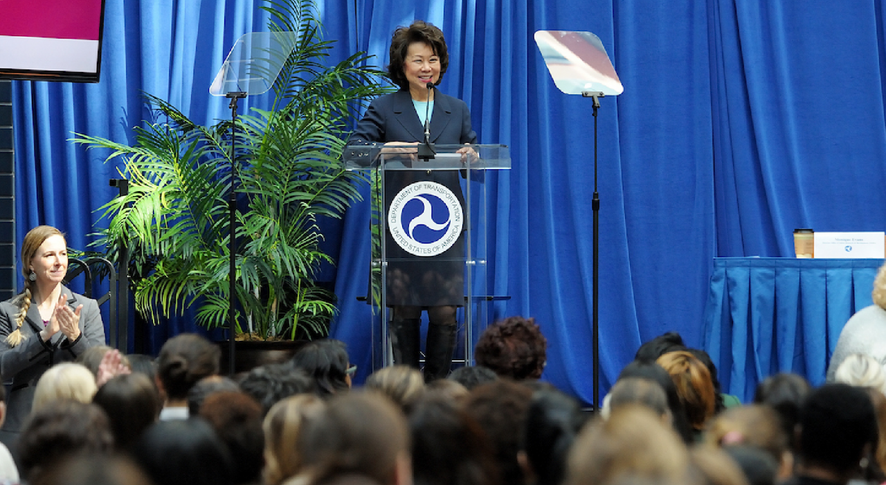 Secretary Chao addresses attendess at women in history event
