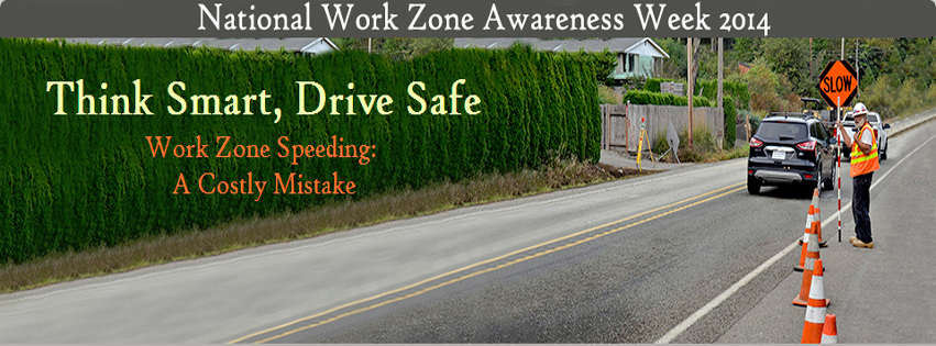 Web banner for Work Zone Awareness Week