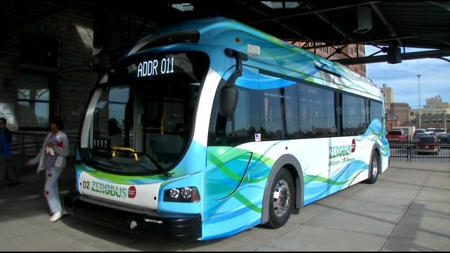 Photo of zero-emission bus in Louisville
