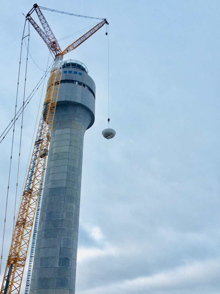 Air Traffic Control Tower Being repaired