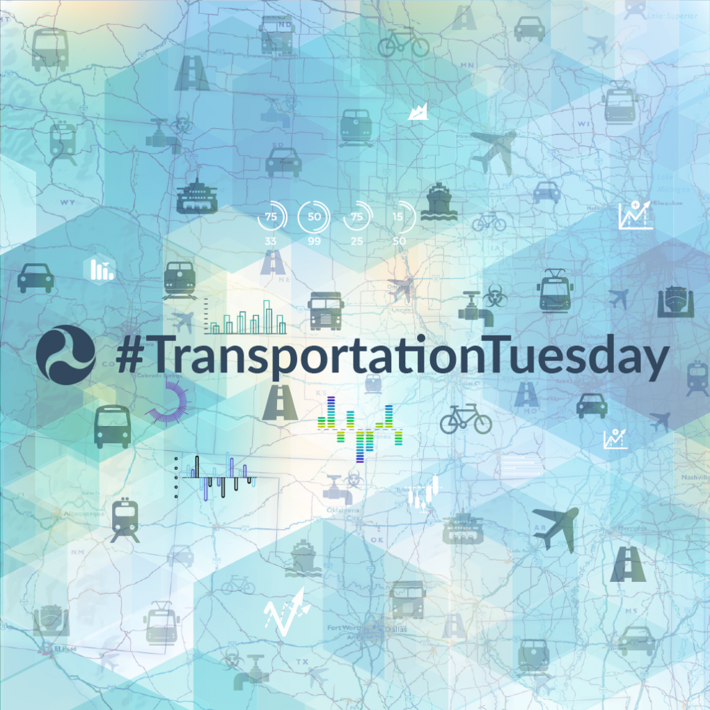 Image of TransportationTuesday Banner and twitter tag