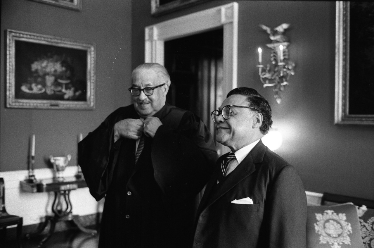 Supreme Court Justice Thurgood Marshall and Secretary Coleman