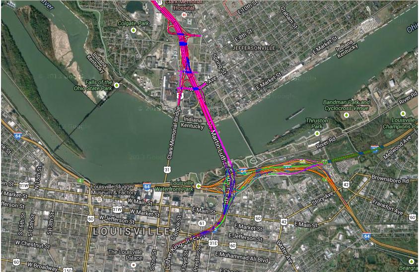 The Ohio River Bridges US Department Of Transportation - Ohio river on us map