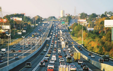 By reducing traffic congestion on highways such as this one, States and metropolitan areas help to improve air quality.